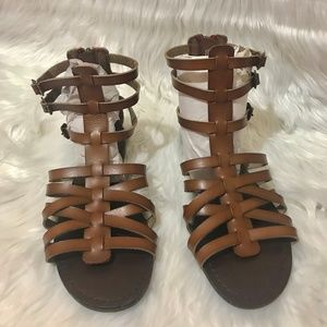 MOSSIMO / Brown Gladiator Ankle Sandals / SZ 8.5